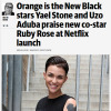 "Australian actor Stone, who plays Lorna Morello, told Confidential: ""Ruby Rose is in the big house. Even in prison, she is gorgeous. The face of Maybelline is in jail!"" [Read more at the Herald Sun]"